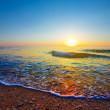 Evening sea coast — Stock Photo