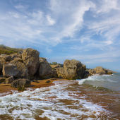 Stony sea coast — Stock Photo