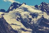 Mount peak and a glacier — Foto de Stock