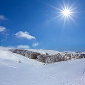 Winter hills scene — Stock Photo