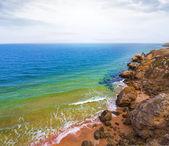 Summer sea coast — Stock Photo