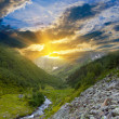 Mountain valley at the sunset — Stock Photo #44688667