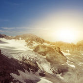 Glacier at the sunset — Stock Photo