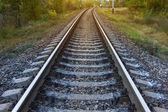 Closeup railway — Stock Photo