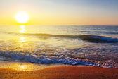 海安静落日 — 图库照片
