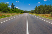 Asphalt road leaving far — Stock Photo