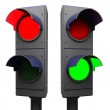 Traffic lights isolated — Stock Photo