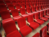 Red theater seat — 图库照片