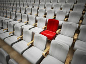 Reserved cinema or theatre seat — 图库照片