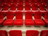 Red theater seat — Stock Photo