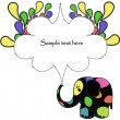 Fun colorful elephant — Stock Vector #10476346