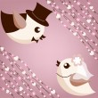 Bird's wedding — Vector de stock #12061467
