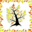 Stock Vector: Tree autumn
