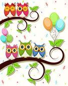 Carta bella vettoriale con buon compleanno — Vettoriale Stock