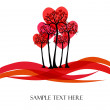 Beautiful vector tree with hearts — Image vectorielle