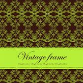 Template frame design for card — Stock Vector