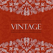 Beautiful vintage pattern — Stock vektor
