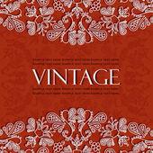 Bel modello vintage — Vettoriale Stock