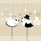 птицы свадьба — Cтоковый вектор