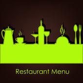 レストラン、カフェのサンプル メニュー — ストックベクタ