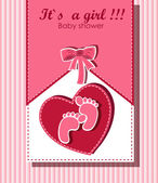 Beautiful card for baby girl — Stock Vector