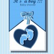 Beautiful card for baby boy — Stok Vektör #12461159
