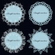 Set of vintage frames. vector illustration — Vettoriale Stock #12461341