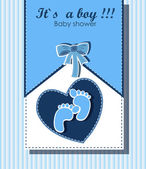 Beautiful card for baby boy — Stock Vector