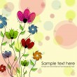 Multicolored flowers — Vector de stock