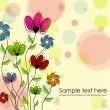 fiori multicolori — Vettoriale Stock