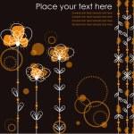 Orange flowers.Vector illustration. — Stock Vector