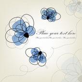 красивый цветочный фон. голубые цветы — Cтоковый вектор
