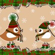Royalty-Free Stock Vector Image: Christmas card with birds and gifts