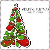 Wektor piękne kartki świąteczne — Wektor stockowy