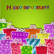 Colorful gifts for the new year — Imagen vectorial