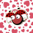 Pretty cute ladybug girl — Stock Vector