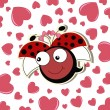 Pretty cute ladybug girl — Stock Vector #13587932