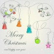 Beautiful card with Christmas — Stock Vector