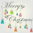 Beautiful Christmas card with Christmas decorations — Imagen vectorial