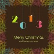 Beautiful card with Christmas and New Year — Imagens vectoriais em stock