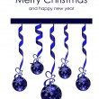 Beautiful Christmas decorations — Imagen vectorial