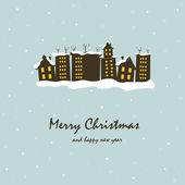 Beautiful Christmas card — Cтоковый вектор