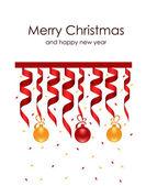 Beautiful Christmas decorations — Stock Vector