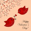 Loving pair of birds — Vector de stock