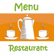 Stock Vector: Sample menu for restaurant and cafe