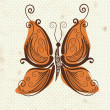 Royalty-Free Stock Imagem Vetorial: Beautiful butterfly patterns of