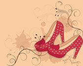 Beautiful women's shoes — Stock Vector