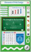 Elements of Web Design for Schools — Stock Vector