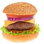 Cheeseburger on isolated — Stock Photo
