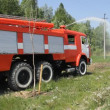 Stock Video: Fire engine